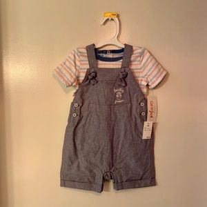 Cat and Jack boys overall set